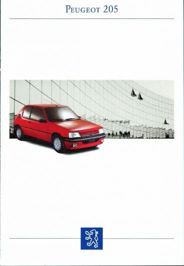 Brochure Peugeot 205  1993