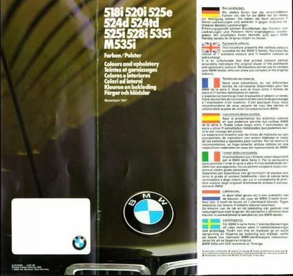 BMW 518i, 520i, 524td, 525e, 528i, 535i, M535i