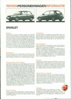 Toyota Starlet Xl,gl,s1.3,1.5,automaat