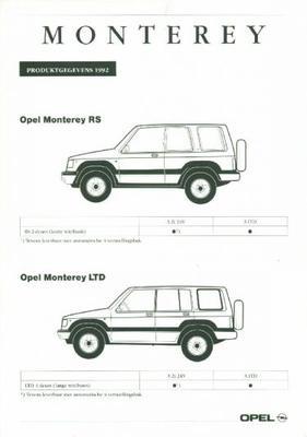 Opel Monterey Rs,ltd