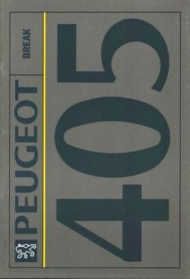 Peugeot 405 Break Gl,gld,glx,glxd,sri,srd Turbo