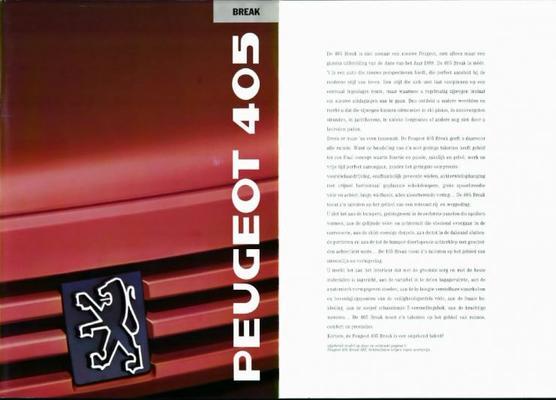 Peugeot 405 Break Sri,gl,gld,gr,grd,sr,sri,srd Tur