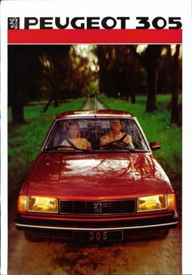 Peugeot Sedan 305 Gl,gld,gr,sr,srd,gt,gtx