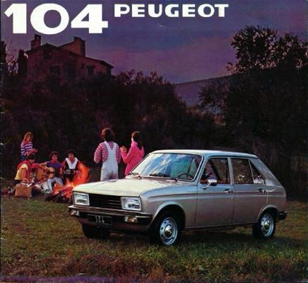 Peugeot  104 Gl,zl,gr,zr,gr,zr,sr,s,zs