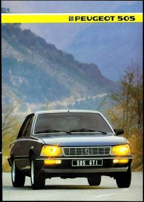 Peugeot 505 Gl,gld,gr,grd,gtdt,gti,turbo Injection