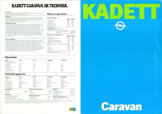 Opel Opel Kadett Caravan Caravan De Luxe