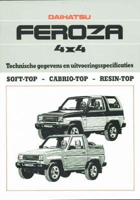 Daihatsu Feroza Softtop,dx,cabriotop,resintop,el