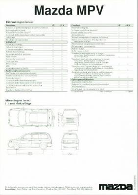 Mazda Mpv Lx,glx