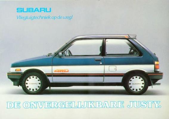 Subaru Justy Gl,sl,dl,van