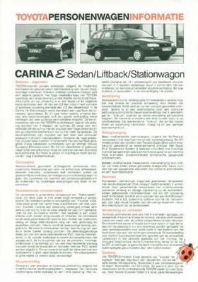 Toyota Carina E Sdn,lb,stw,xl,gl,gt