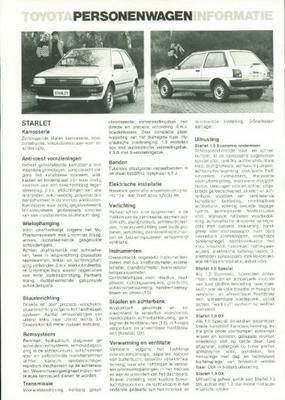 Toyota Starlet 1.0,1.3,s,dx