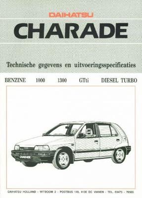 Daihatsu Charade Ts,cs,gtti,aut,tx,cx,txf,4wd,dies