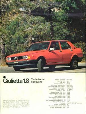 Alfa Romeo Giulietta 1,8