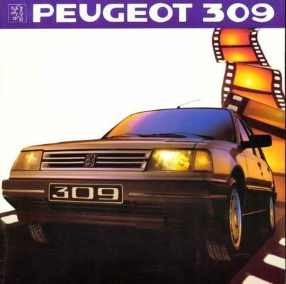 Peugeot 309 309, 309 Gl, 309 Gl Profil, 309 Gr 1.3