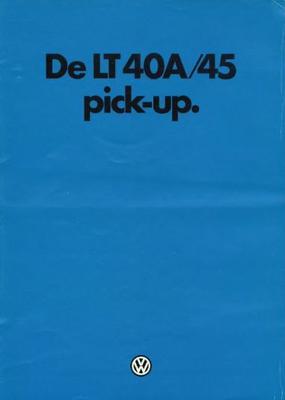 Volkswagen Lt 40a,45 Pick-up