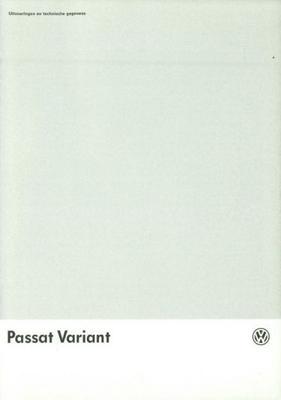 Volkswagen Passat Variant 55 Kw,66 Kw,85 Kw, Syncr