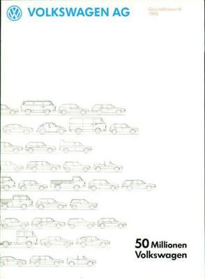 Volkswagen  Ag 1986 50 Millionen Volkswagen