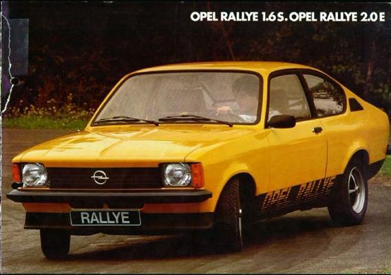 Opel Opel Rallye 1.6s,opel Rallye 2.0e
