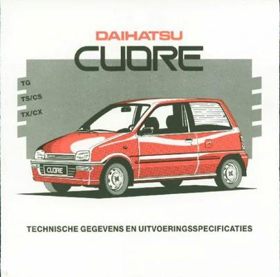 Daihatsu Cuore Tg,ts,cs,tx,cx