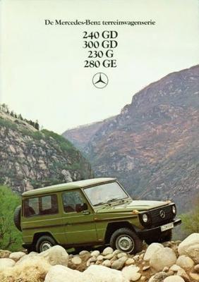 Mercedes-benz 240gd,300gd,230g,280ge Terreinwagens