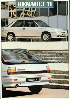 Renault 11 Gte,tl,td,gtl,gtd,gtx,