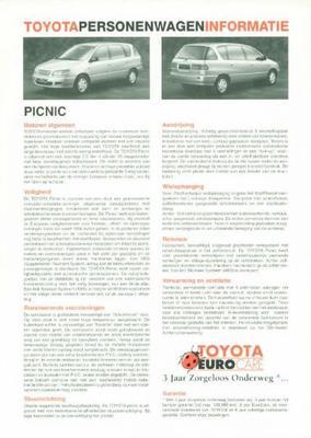 Toyota Picnic Gl,xl