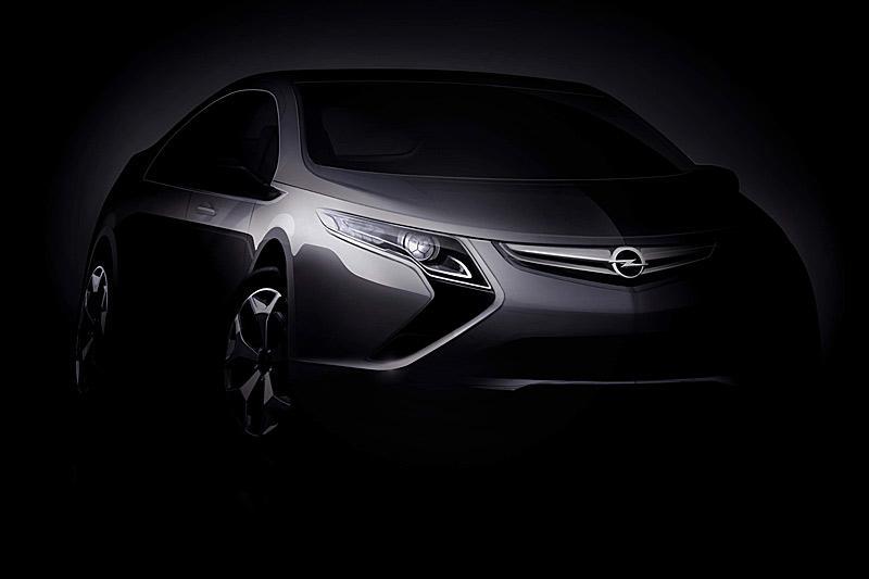 Opel Ampera: aan het stopcontact