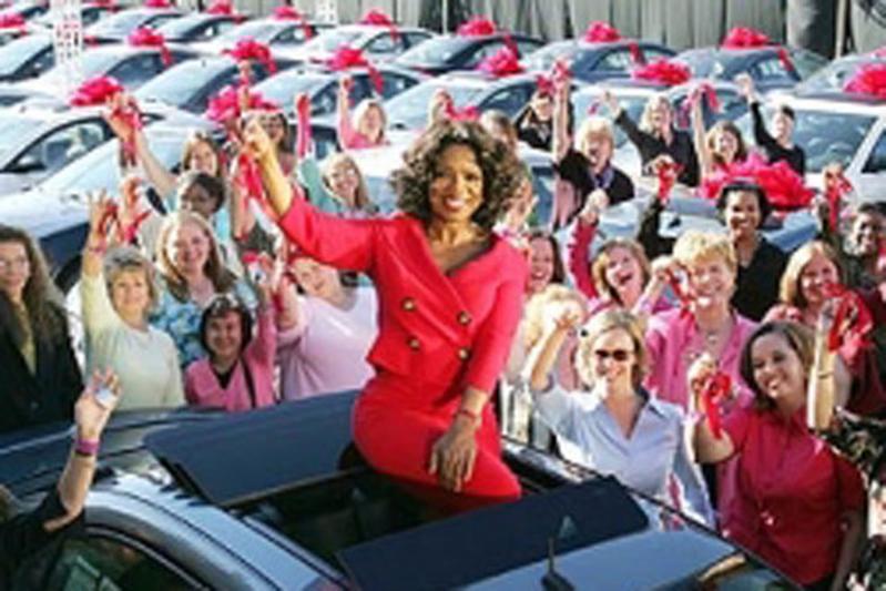 Oprah moet Volkswagen Routan helpen