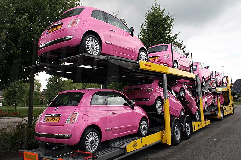 Fiat 500 Rosa in het land