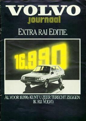 Brochure Volvo RAI editie 1981