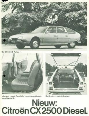 Brochure Citroën CX 2500 Diesel