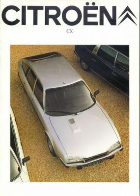 Brochure Citroën CX 1981