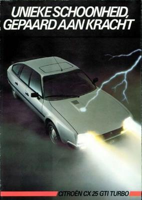 Brochure Citroën CX 25 GTI Turbo 1985