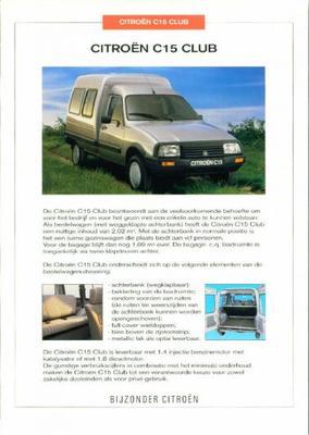 Brochure Citroën C15 Club