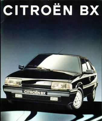 Brochure Citroën BX 1992