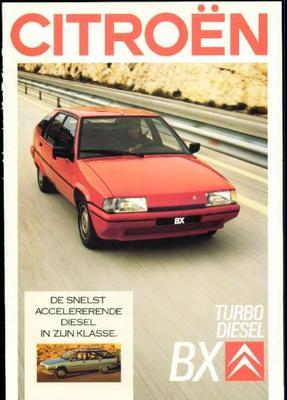 Brochure Citroën BX Turbo Diesel 1988