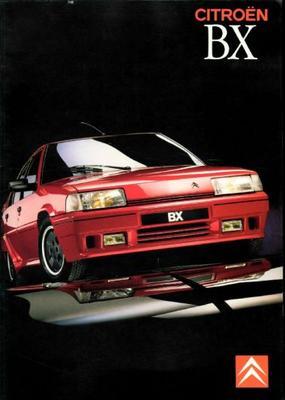 Brochure Citroën BX 1988