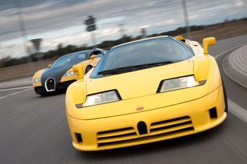 Oud & Nieuw: Bugatti Veyron-Bugatti EB110 SS
