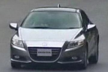 Honda CR-Z betrapt op testbaan