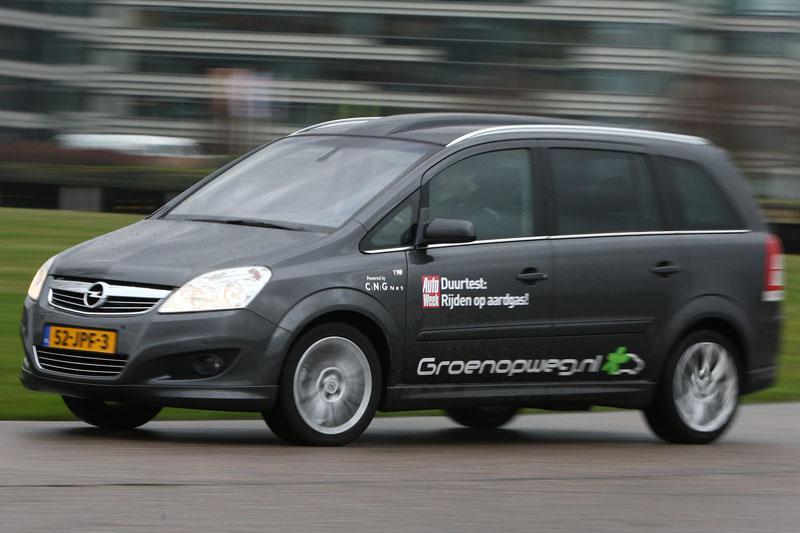 Rij-impressie Opel Zafira op aardgas