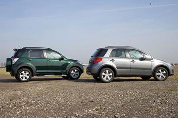 Daihatsu Terios 1.5 aut. - Suzuki SX4 1.6 aut. Exclusive