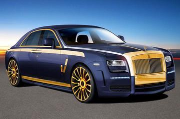 Alles glimt aan de Rolls-Royce Ghost van Mansory