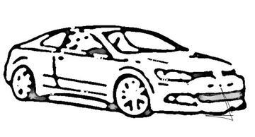 Eerste schets Volkswagen Golf coupé