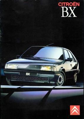 Brochure Citroën BX 1989