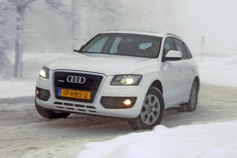 Audi Q5 in de sneeuw