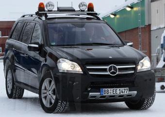 Wintertest met gewijzigde Mercedes GL