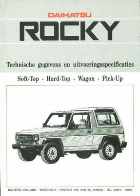 Daihatsu Rocky Bx,dx,el,pick-up,softtop,wagon,hard