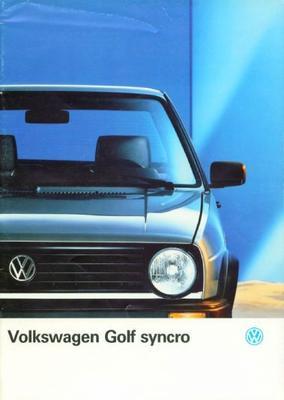 Volkswagen Golf Syncro Cl,syncro Gt,