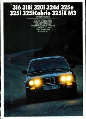 BMW 316,318i,320i,324d,325e,325i,325ix,m3 325i Cab