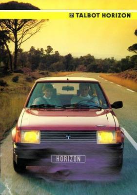 Talbot Horizon Ls,ld,gld,gl,gls,premium1985